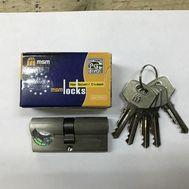 Цилиндровый механизм MSM Locks, никель Простой ключ-ключ N80 мм