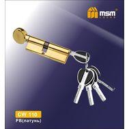 Цилиндровый механизм MSM Locks Перфорированный ключ-вертушка CW110mm PB (латунь)