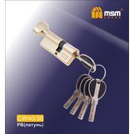 Цилиндровый механизм MSM Locks Перфорированный ключ-вертушка CW40/30mm PB (латунь)