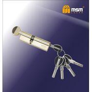 Цилиндровый механизм MSM Locks Перфорированный ключ-вертушка CW40/60mm PB (латунь)