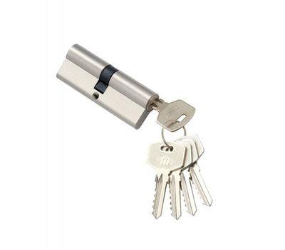 Цилиндровый механизм MSM Locks Простой ключ-ключ N100mm SN (матовый никель)